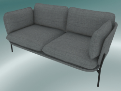 Sofa Sofa (LN2, 84x168 H 75cm, Warm black legs, Hot Madison 724)