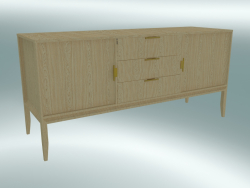 Dresser with 2 facades and 3 drawers (Light Oak)