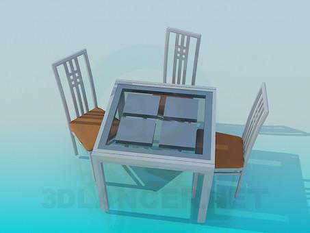 descarga gratuita de 3D modelado modelo Conjunto mesa y sillas