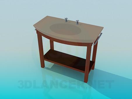 3d модель Умывальник на подставке – превью