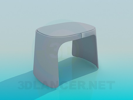3d model Plastic stool - preview