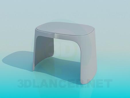 3d модель Пластмассовый табурет – превью