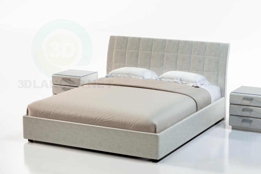 3d modeling Lugano Bed model free download