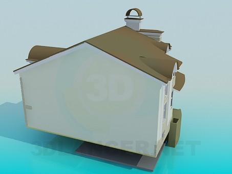 modelo 3D Dos pisos casa con sótano - escuchar