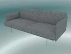 Double sofa Outline (Vancouver 14, Polished Aluminum)