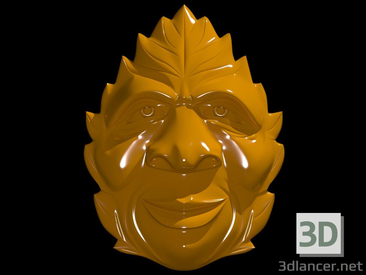 3d Mask of the druid model buy - render