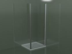 Cabina doccia senza telaio LN per piatti doccia da incasso