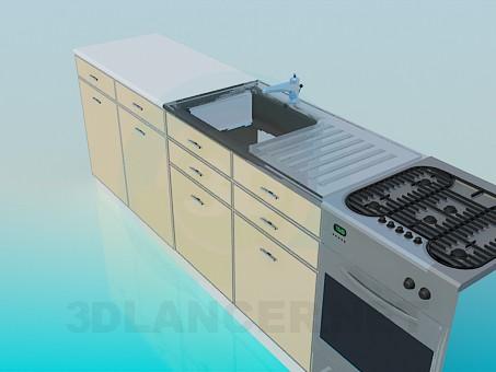 3d модель Мебель на кухню – превью