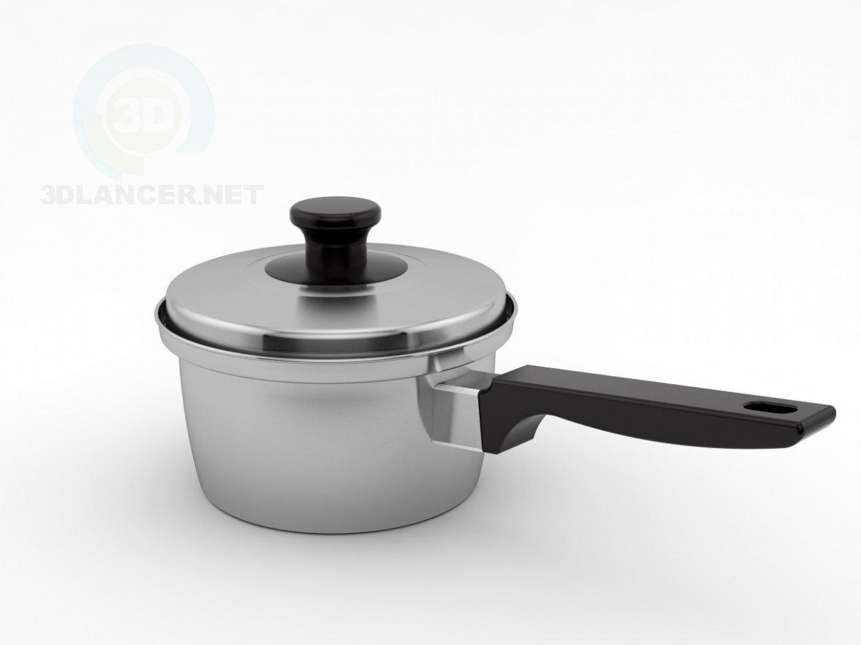 3d modeling Small Pot model free download