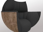 Armchair Black Tulip