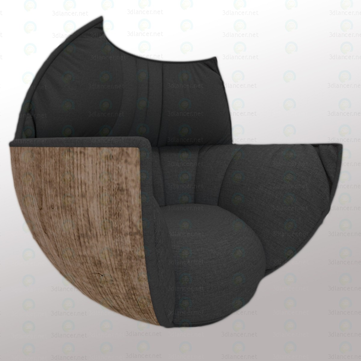 Armchair Black Tulip paid 3d model by alexvictorov1 preview