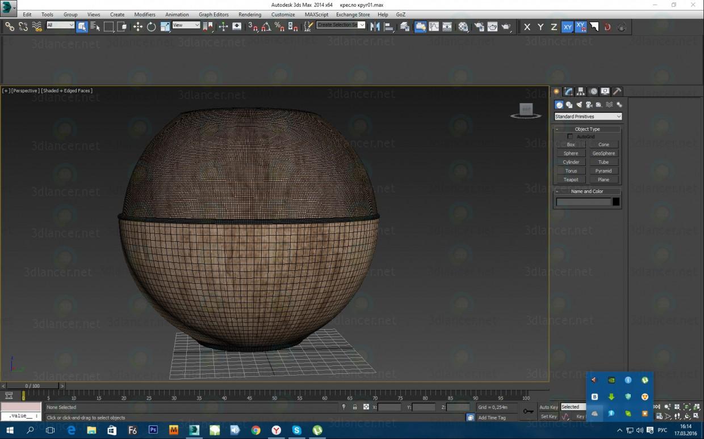 Sillón Tulip negro 3D modelo Compro - render
