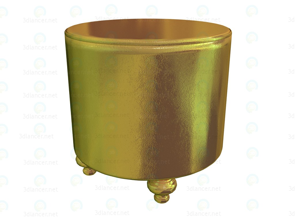 3d model Stool Shining Gold - preview
