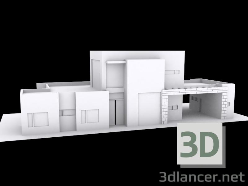 3d модель двоповерховому будинку – превью