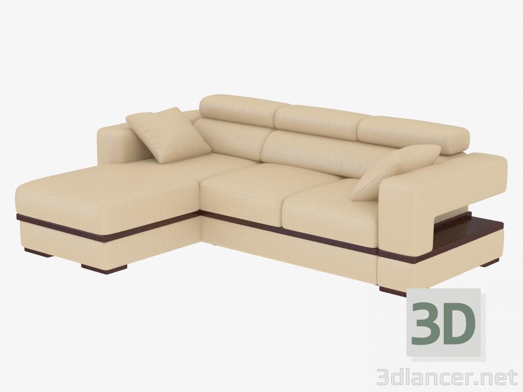 Modelo 3d sof de esquina con durmiente del fabricante mobel zeit gio id 19056 - Sofas de esquina ...