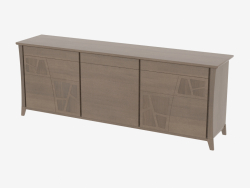 Buffet 3-door with 3 drawers on the curved legs CR3MOLC