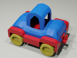 Toy low-poly car