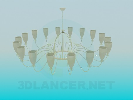 3d modeling Chandelier with ceilings model free download