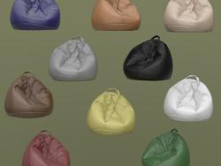 Set di dieci borse per poltrone in pelle