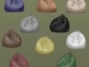 दस चमड़े के आर्मचेयर बैग का सेट