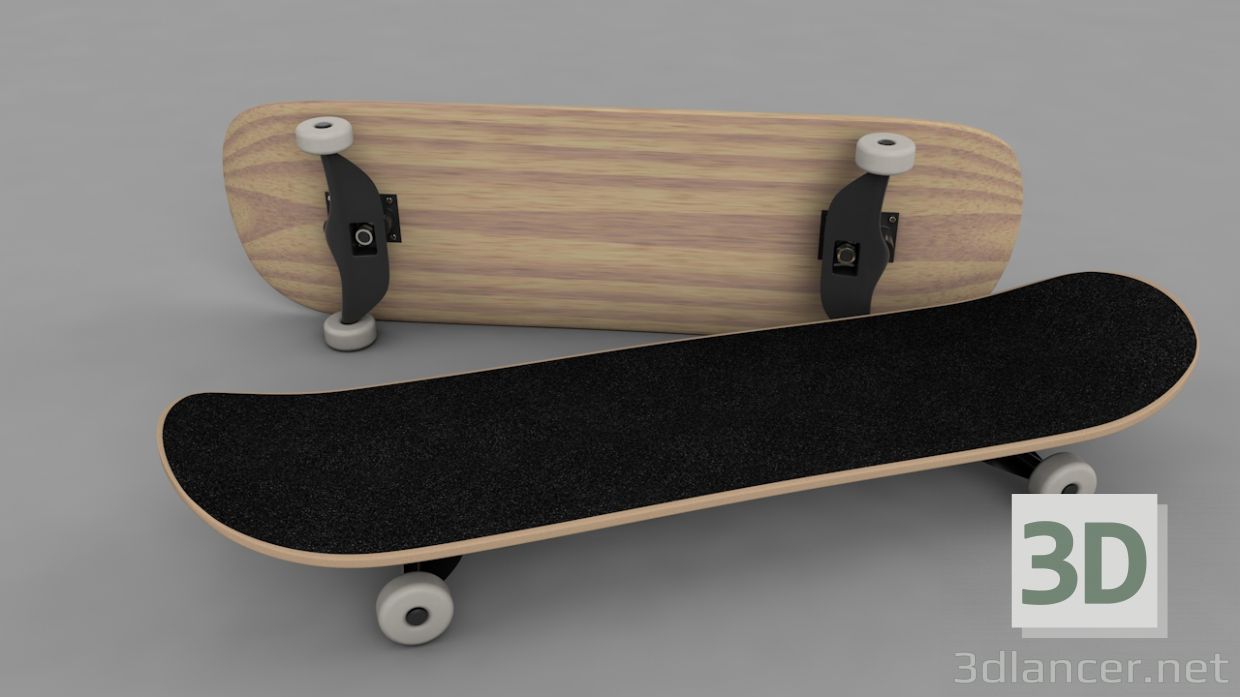 3d Skateboard model buy - render