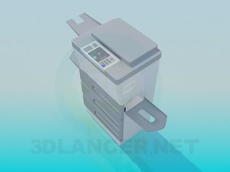 3d модель Копіювальний апарат – превью