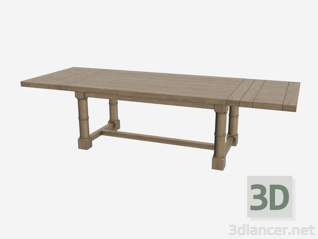 3d model dining table taunton 301 001 manufacturer for Dining table models