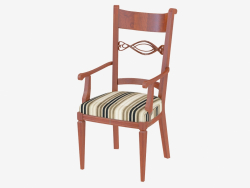 Dining chair with armrests CO120