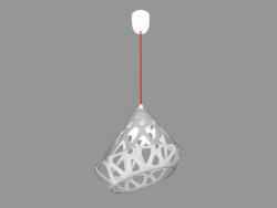 Lampe suspendue (lumière fil blanc rouge)