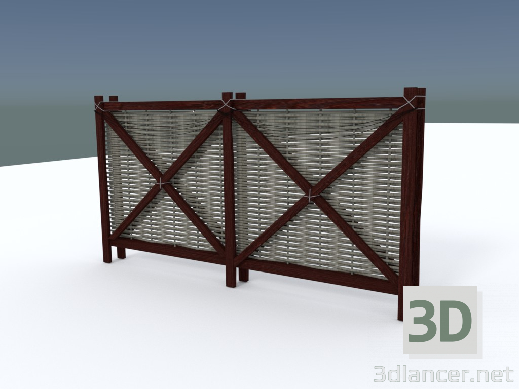 3d model Hedge - preview