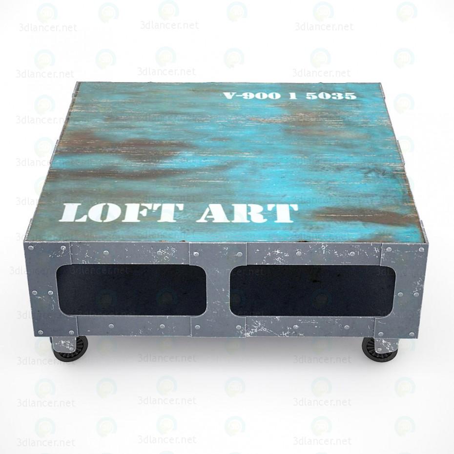 Mesa de centro de arte LOFT 3D modelo Compro - render