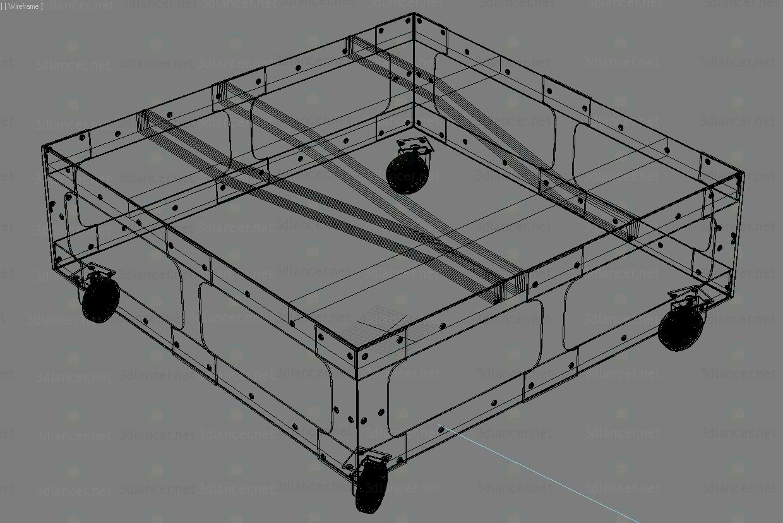 3d LOFT ART coffee table model buy - render