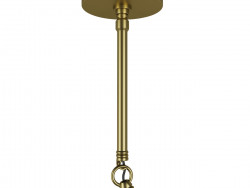 Il lampadario in mansarda
