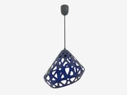 Lampe pendante (bleu drk fil noir foncé)