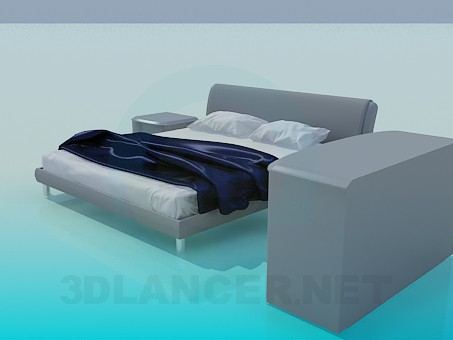 3d model A bed, chest of drawers and cabinets in kit - preview