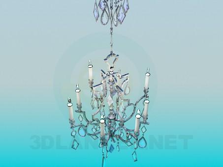3d модель Люстра украшенная кристаллами – превью
