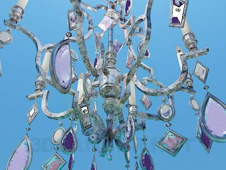 3d model Chandelier decorated with crystals - preview