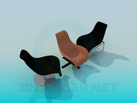 modelo 3D Sillas cómodas - escuchar