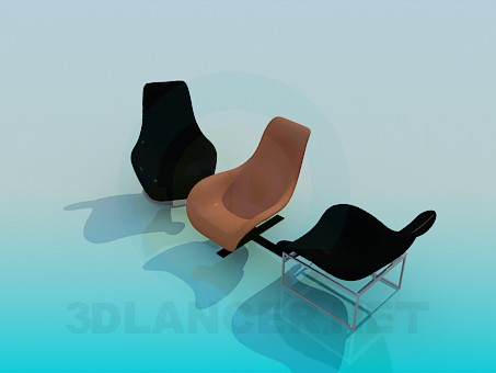 3d model Comfy chairs - preview