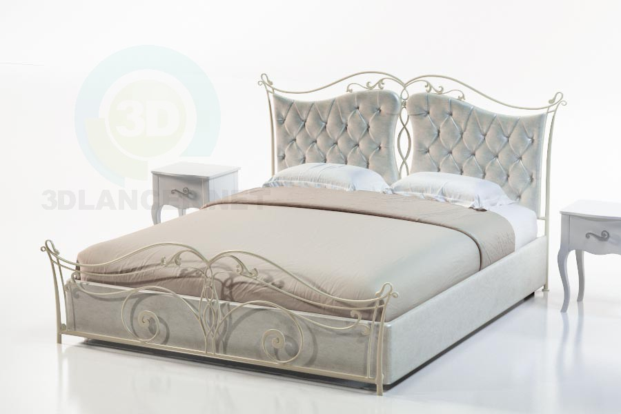 3d modeling Bed Marcella-2 model free download