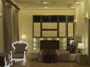 Bedroom Interior scene with complete furniture Middle east style