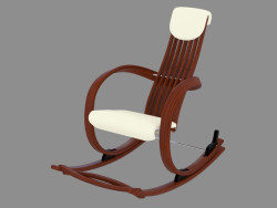 Rocking chair with leather upholstery