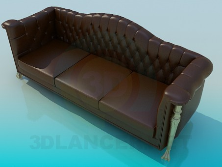 3d model Strict sofa - preview