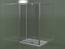 Cabina doccia senza telaio RM con anta battente per piatti doccia da incasso