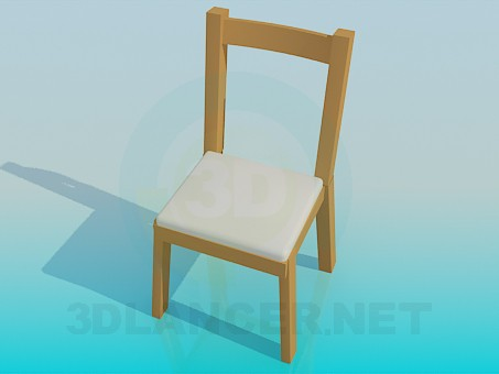 3d modeling Stool with back-end model free download