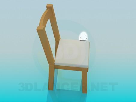 modelo 3D Taburete con back-end - escuchar