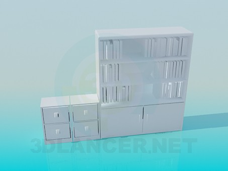 3d modeling Bookcase model free download