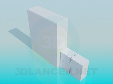 3d модель Книжный шкаф – превью
