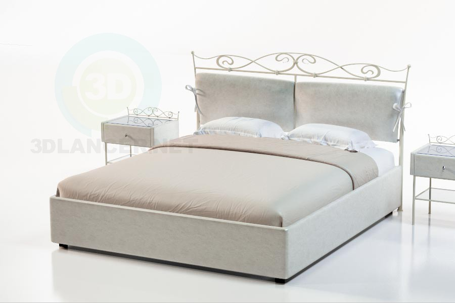 3d model Bed Melville - preview