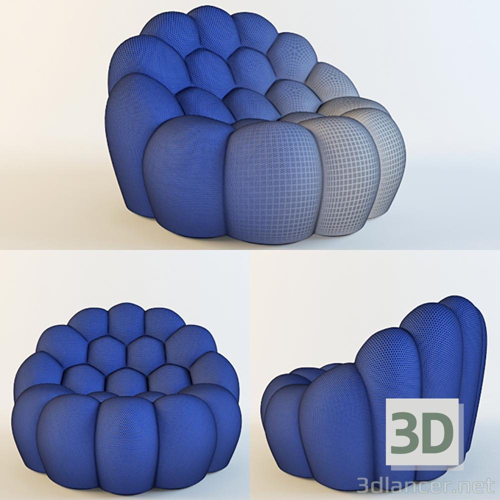 modello 3D BUBBLE ARMCHAIR_ROCHEBOBOIS - anteprima